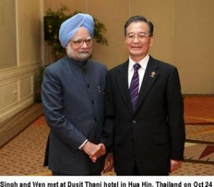 singh wen jiabao meet in Thai resort Oct 24, 2009