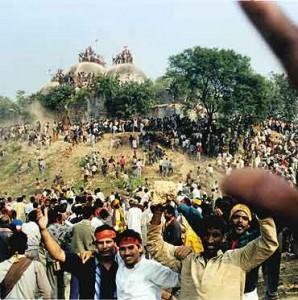 Babri Masjid demolition scenes