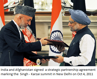 Karzai Visits Delhi, Signs Strategic Partnership Agreement