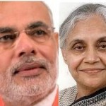 BJP's Narendra Modi and Cong party's Sheela Dixit