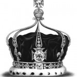 The Koh-i-Noor in the front cross of Queen Mary's Crown