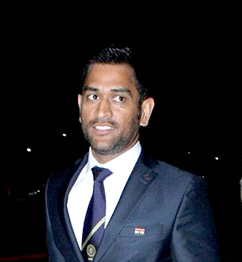 Another popular celebrity face - Mahendra Singh Dhoni