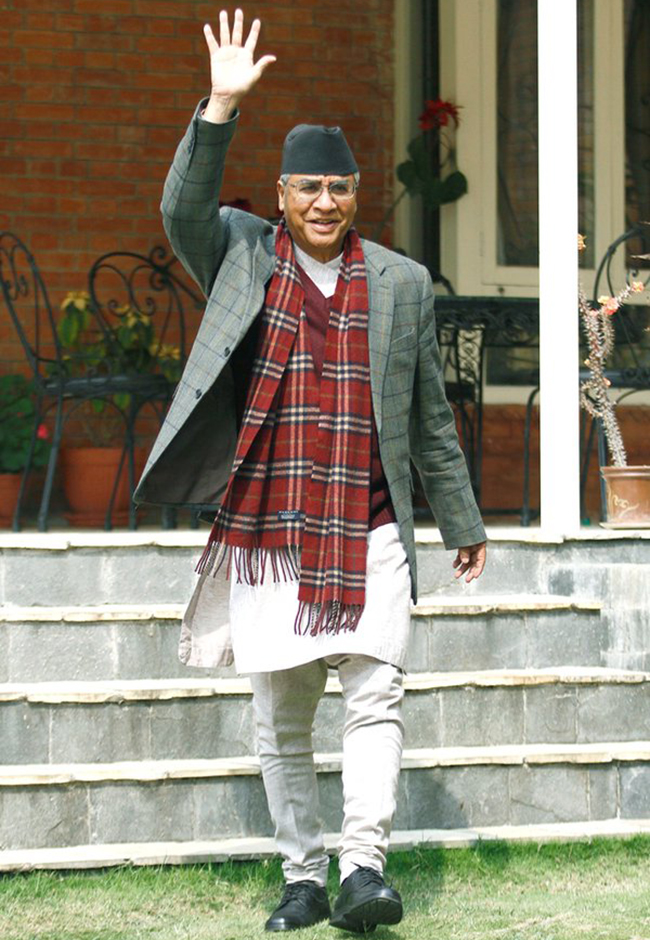 Nepali Congress chief Deuba